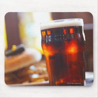 Glass of beer mouse pad