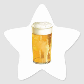 Glass of Beer Star Sticker
