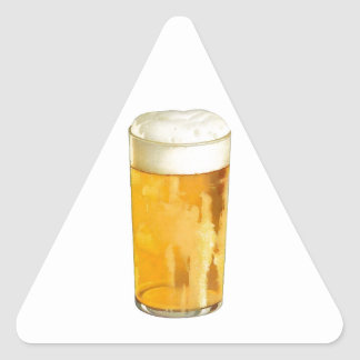 Glass of Beer Triangle Sticker