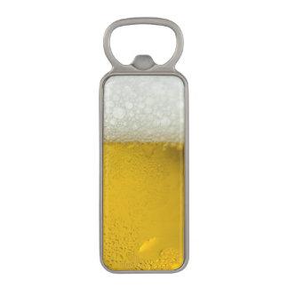 Glass of BEER with HEAD Bottle Opener