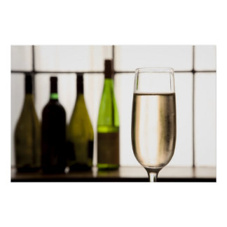 Glass of Champagne Print