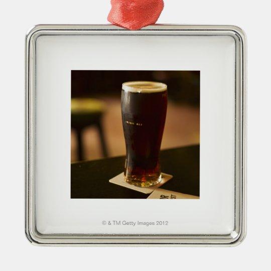Glass of Irish ale in pub Metal Ornament
