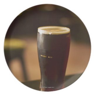 Glass of Irish ale in pub Dinner Plate