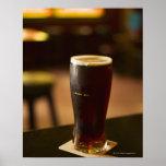 Glass of Irish ale in pub Poster