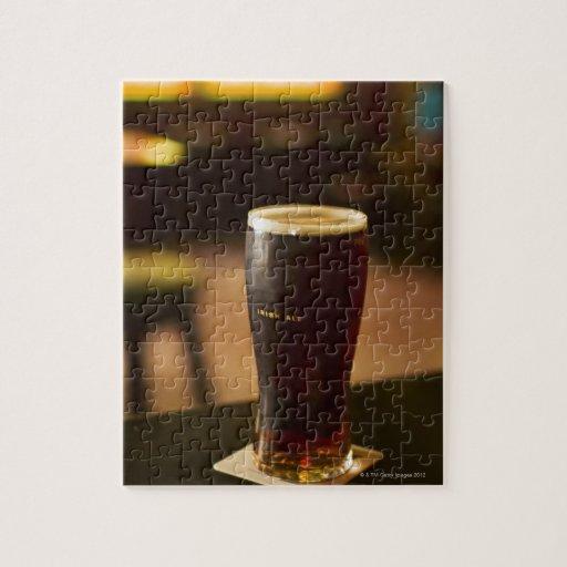 Glass of Irish ale in pub Puzzle