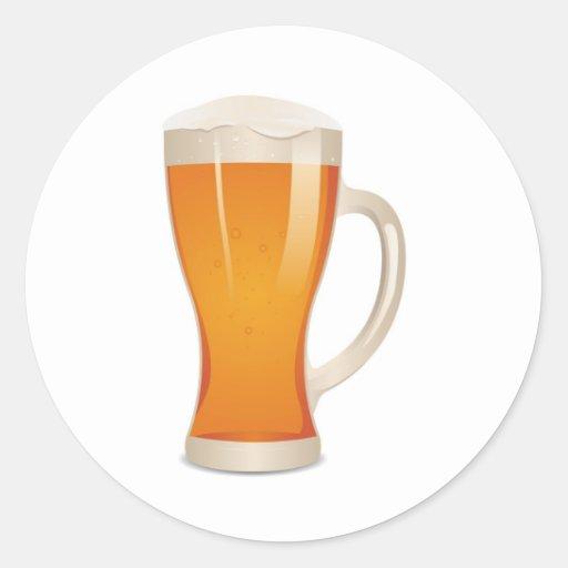 Glass Of Irish Beer Classic Round Sticker