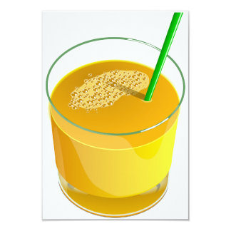 Glass Of Juice Invitations