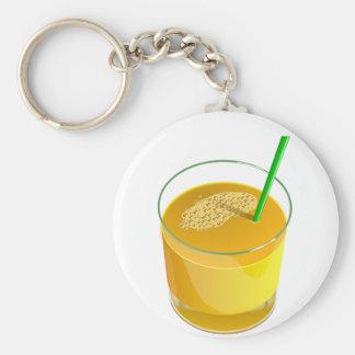 Glass Of Juice Keychain