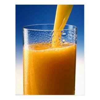 Glass of Juice Postcard