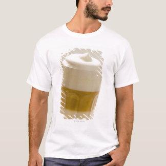 Glass of latte macchiato, close up T-Shirt