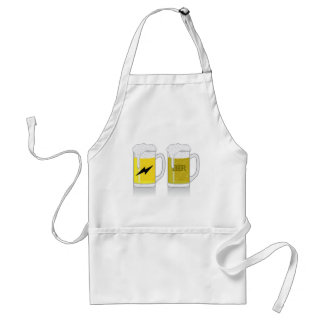Glass of light beer adult apron