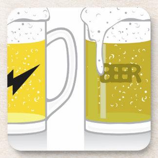 Glass of light beer coaster