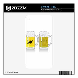 Glass of light beer iPhone 4S decals