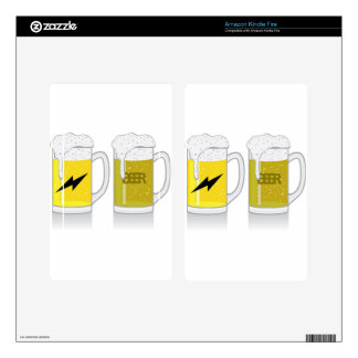Glass of light beer kindle fire skin