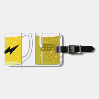Glass of light beer luggage tag