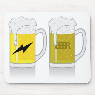 Glass of light beer mouse pad