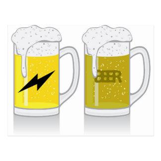 Glass of light beer postcard