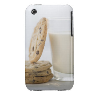 Glass of milk and cookies, close-up iPhone 3 covers