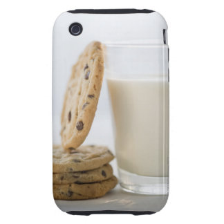 Glass of milk and cookies, close-up tough iPhone 3 covers