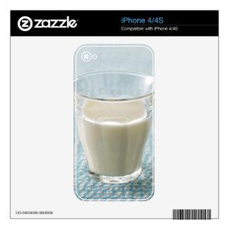 Glass of milk iPhone 4 skins