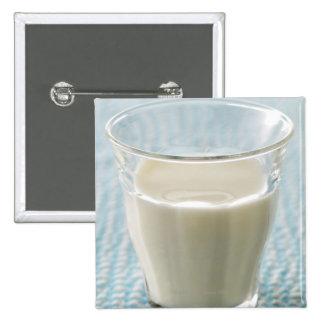Glass of milk pinback button