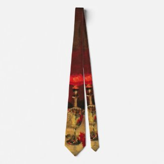 Glass of Port 1884 a Neck Tie