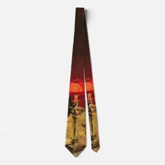 Glass of Port 1884 b Neck Tie
