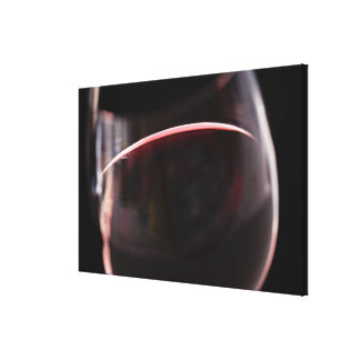 Glass of red wine canvas print