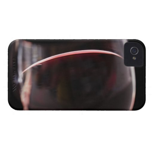 Glass of red wine iPhone 4 cases