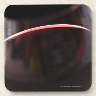 Glass of red wine drink coaster
