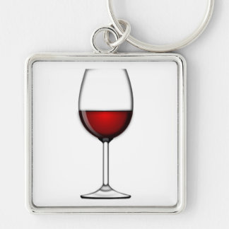 GLASS OF RED WINE KEYCHAIN