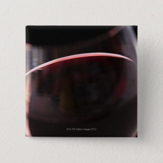 Glass of red wine pinback button