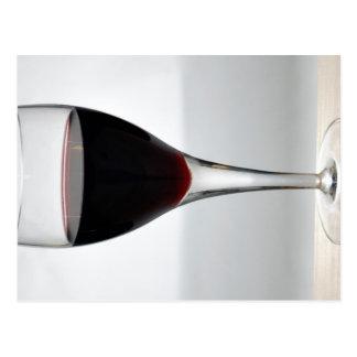 Glass of red wine postcard