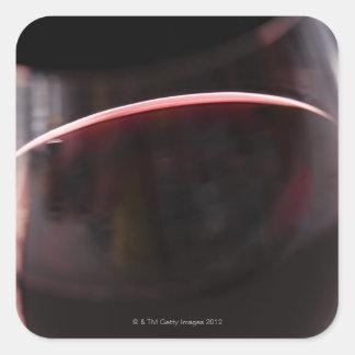 Glass of red wine square sticker