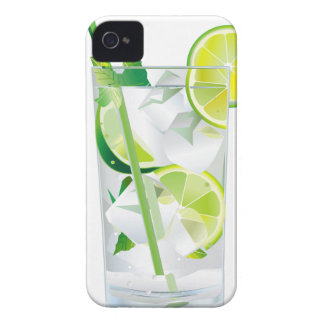 Glass of Refreshing Cocktail Mix iPhone 4 Case-Mate Cases