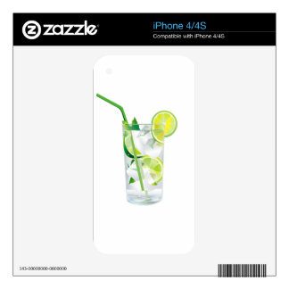 Glass of Refreshing Cocktail Mix iPhone 4 Skins