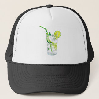 Glass of Refreshing Cocktail Mix Trucker Hat