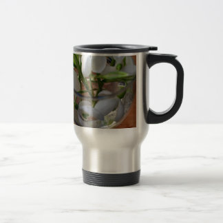 glass of snowdrops travel mug