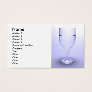 Glass of water business card