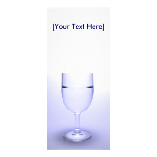 Glass of water rack card