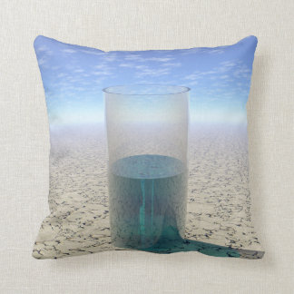 Glass of Water Throw Pillow