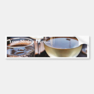 Glass Of White Wine Bumper Sticker