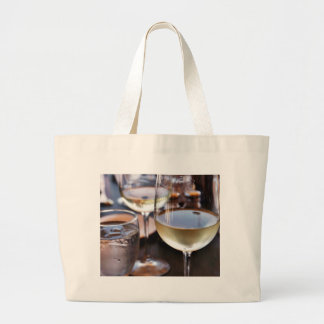 Glass Of White Wine Large Tote Bag