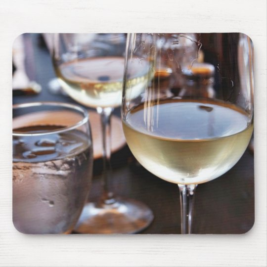 Glass Of White Wine Mouse Pad