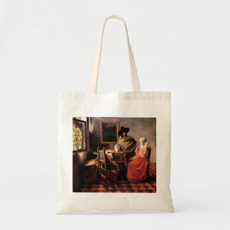 Glass of wine by Johannes Vermeer Canvas Bags