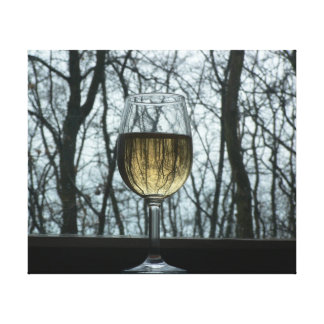Glass of Wine Stretched Canvas Print