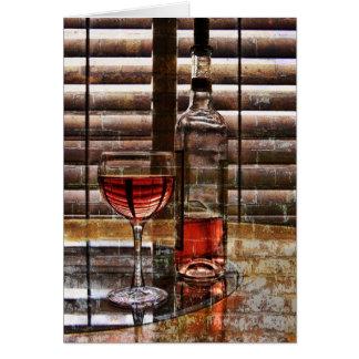 Glass of Wine Card