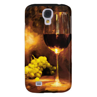 Glass of Wine & Green Grapes in Candlelight Samsung S4 Case