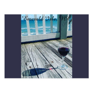 Glass of Wine in the Evening Postcard