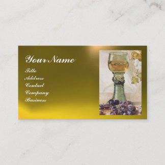GLASS OF WINE, OLD GRAPE VINEYARD BUSINESS CARD